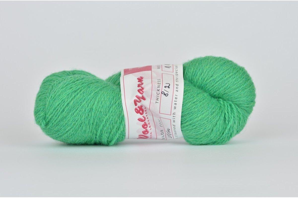 Wełna estońska 8/2 pistacjowa (91m) - 110g