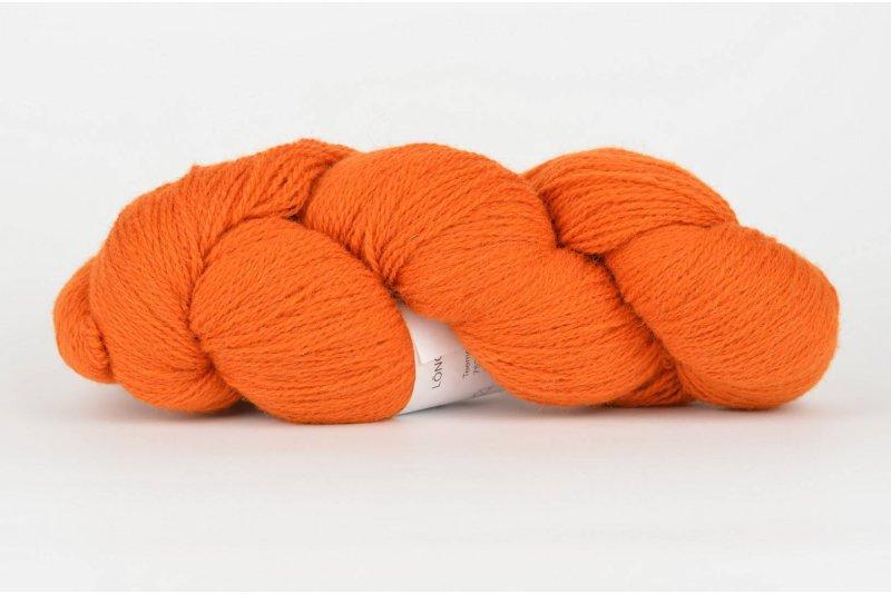 Wełna estońska 8/2 - orange 206 g