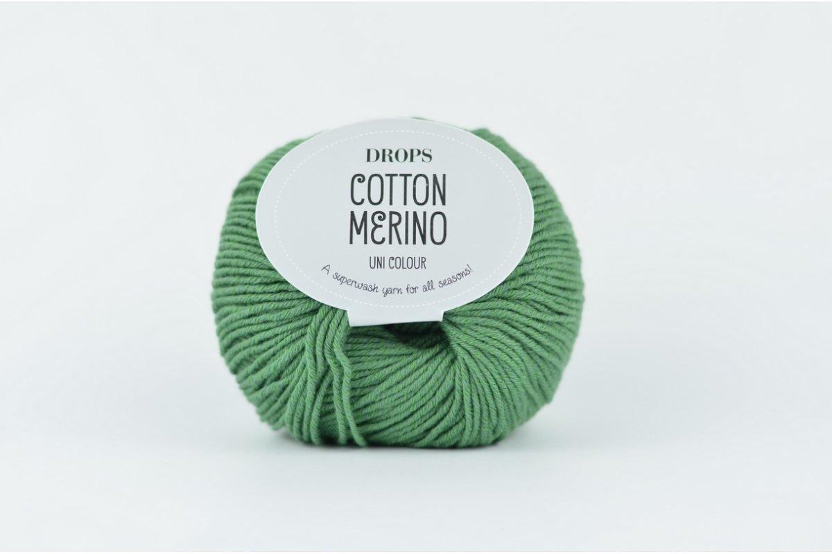 DROPS Cotton Merino 11 zielony leśny