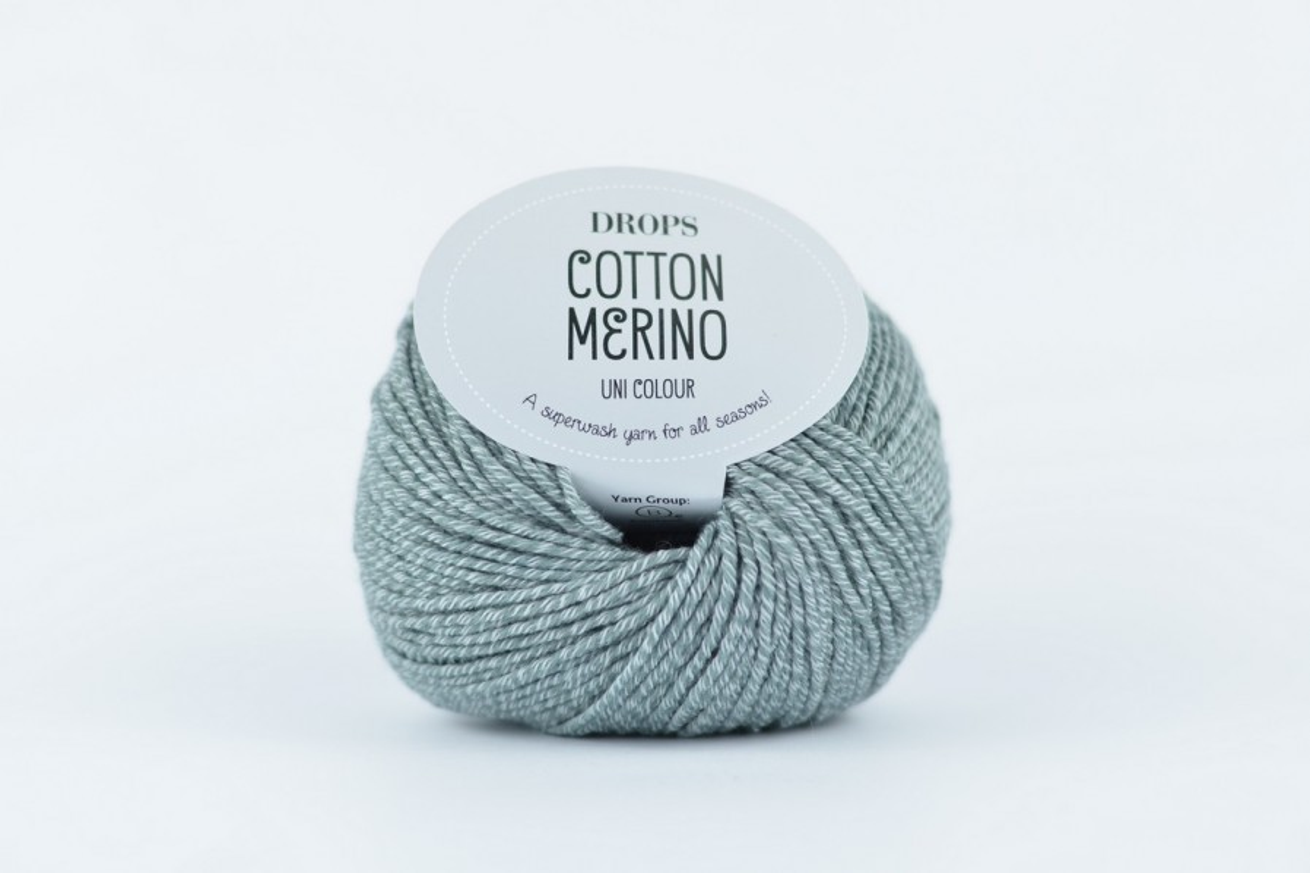 DROPS Cotton Merino 18 średni szary