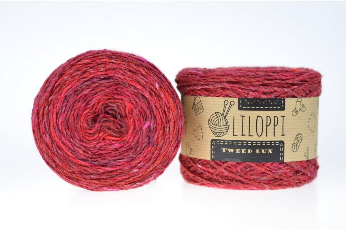 Tweed Lux - wiśniowy 48037