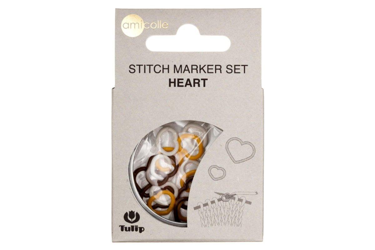 Markery - Tulip Stitch Marker Set Heart (biały)