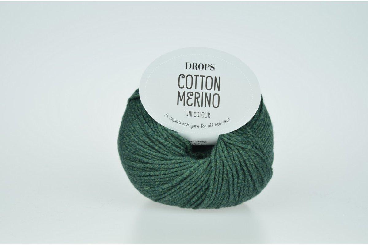 DROPS Cotton Merino 22 ciemny zielony