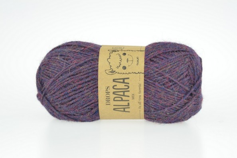 DROPS Alpaca - 6736 burgundowy melanż