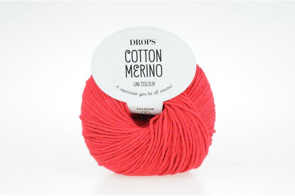 DROPS Cotton Merino 6 czerwony