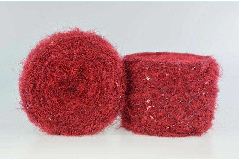 Liloppi Furry - 7325 ciemny czerwony