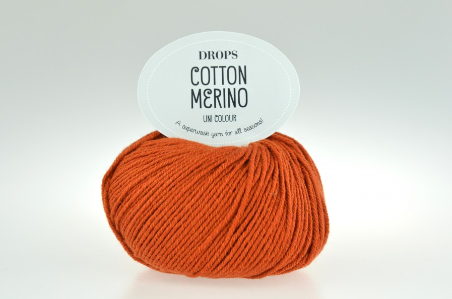 DROPS Cotton Merino 25 rdza