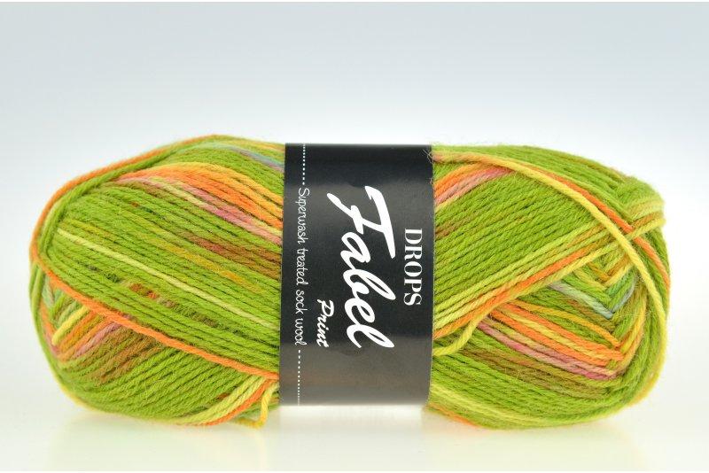 DROPS Fabel Print - guacamole 151