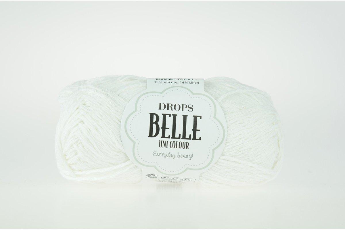 DROPS Belle - 01 biały