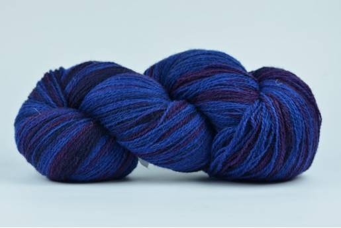 Wełna estońska 8/2 - BLUE/PURPLE - 226g