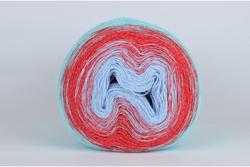 Stenly Yarn Souffle - 360 turkusy i rubiny
