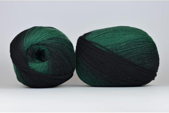 Wool Jazz Artistic - 004 czarno-zielona