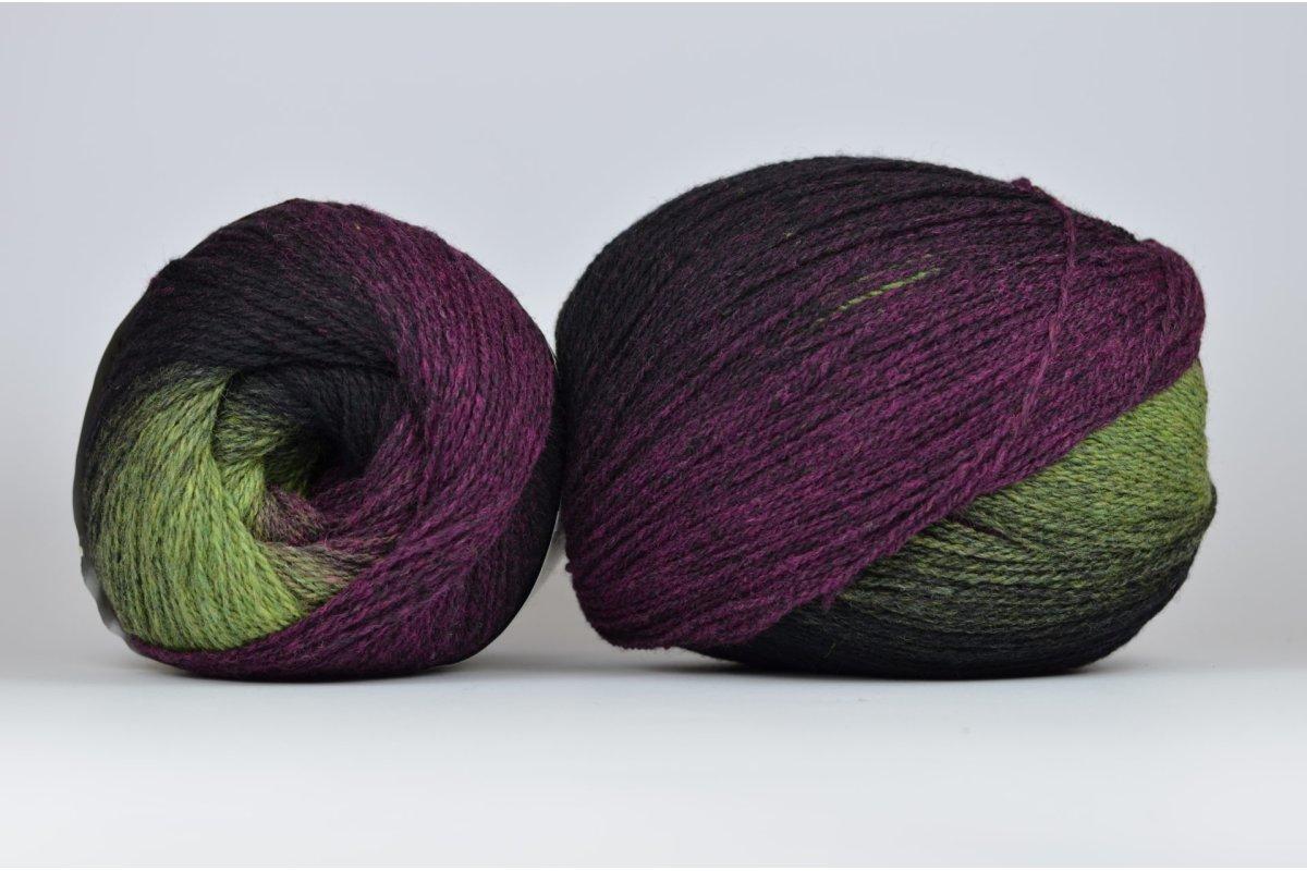 Wool Jazz Artistic - 042 fiolety i zielenie