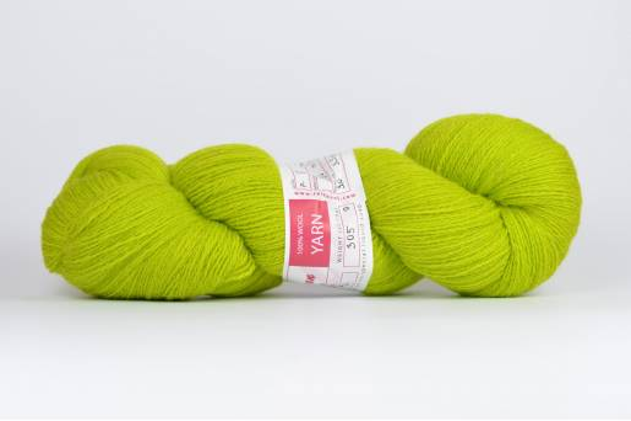 Wełna estońska 8/2 jasny zielony (89m) - 305g