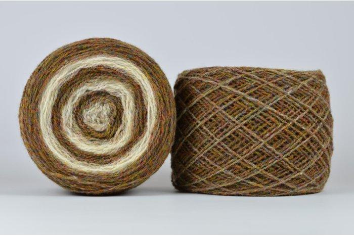 Wool Jazz Artistic - brązowy melanż +krem