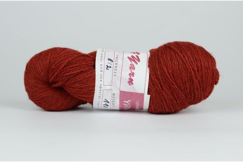 Wełna estońska 8/2 ciemna czerwona (33m) - 110g