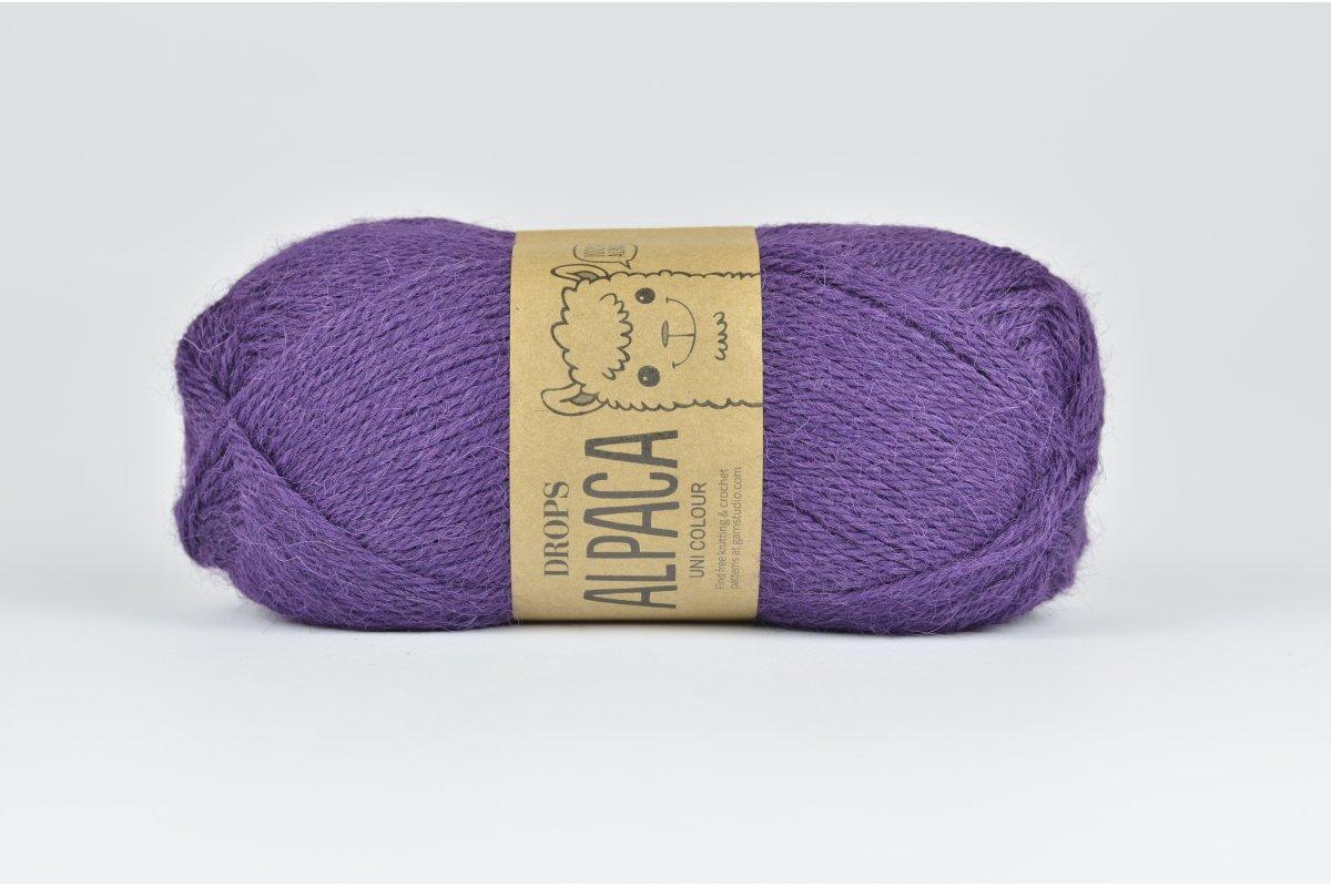 DROPS Alpaca - 4400 ciemnofioletowy