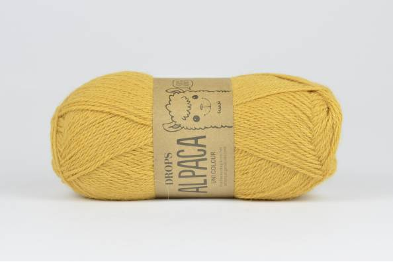 DROPS Alpaca - 2923 złoty żółty