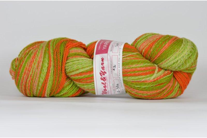 Wełna estońska artystyczna 8/2 - kolor A31 - 380g