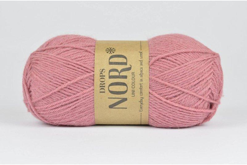 DROPS Nord - 13 stary róż