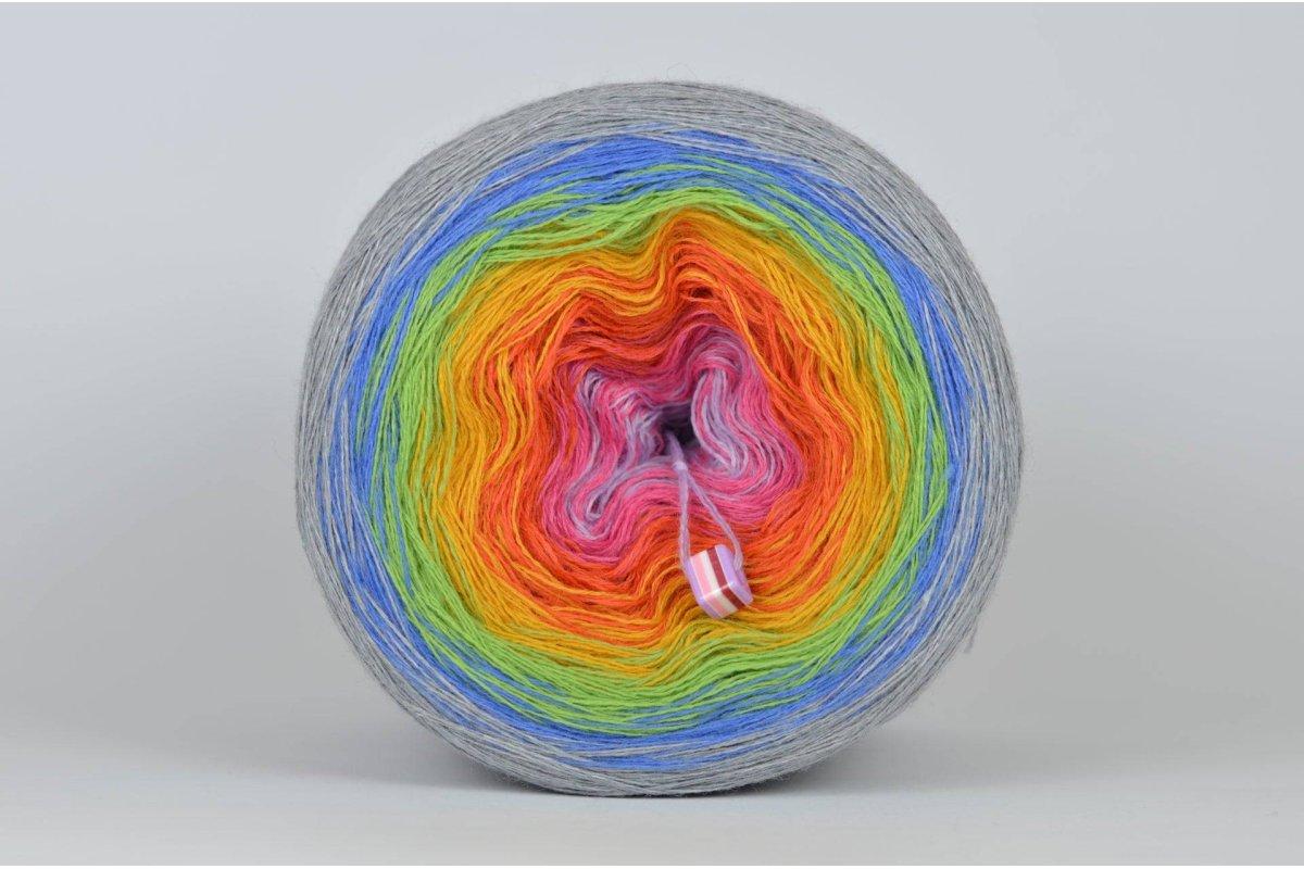 Liloppi Swing Rainbow - 3 nitki - SECRET GARDEN (R104) – 1500m