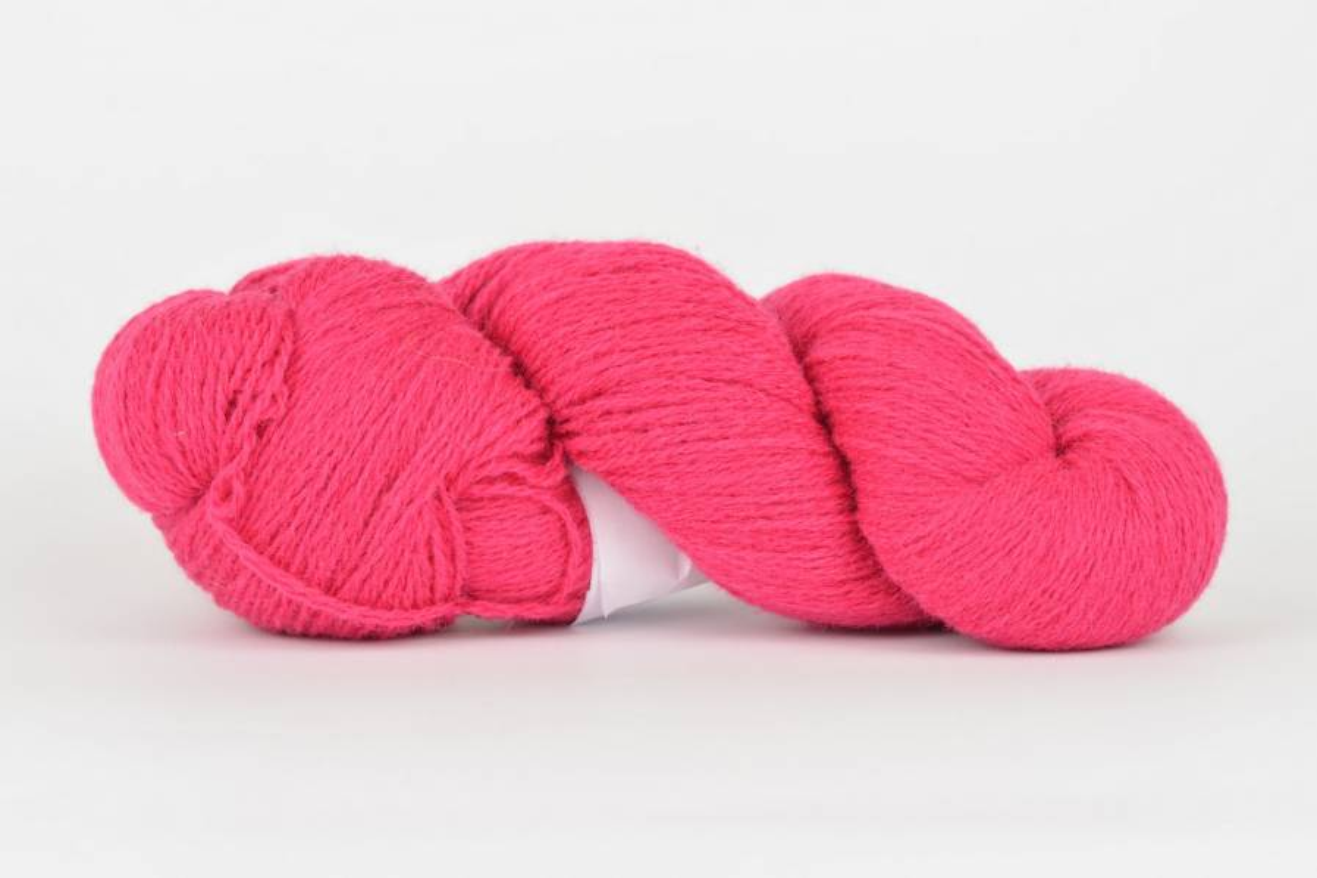 Wełna estońska 8/2 - pink 196 g