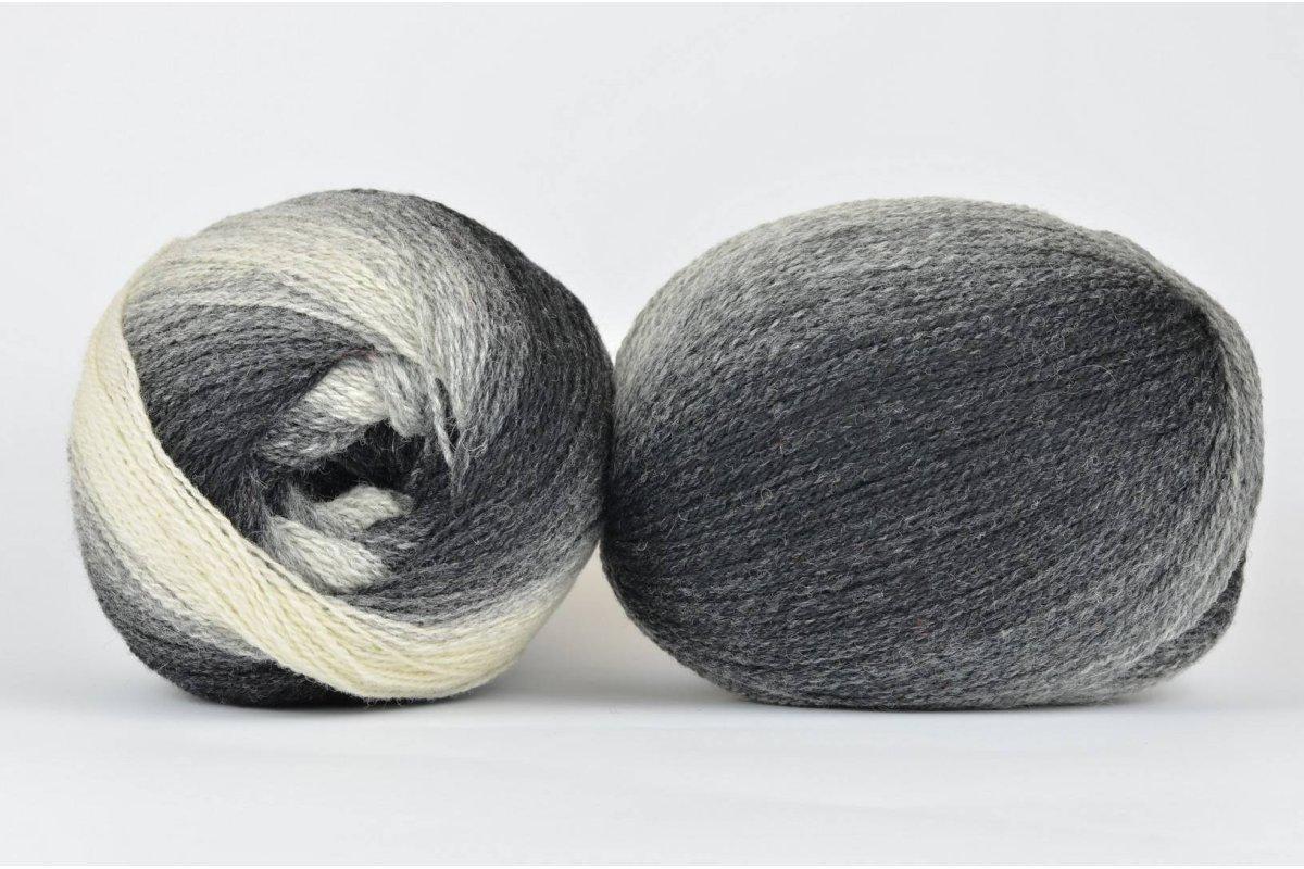 Wool Jazz Artistic - 001 czarno-szaro-biała