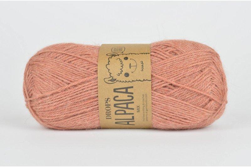 copy of DROPS Alpaca - 3969 czerwony/fioletowy