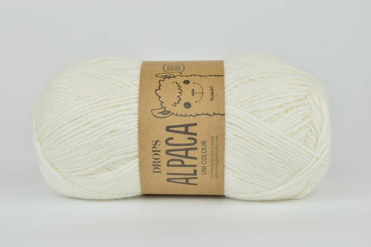 DROPS Alpaca - 1101 biały