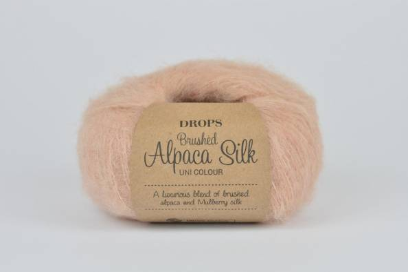 DROPS Brushed Alpaca Silk - 20 piaskowy róż