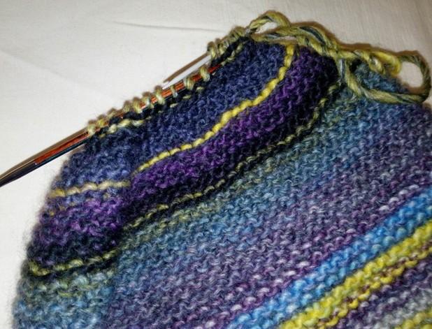 czapka na drutach wzór 5