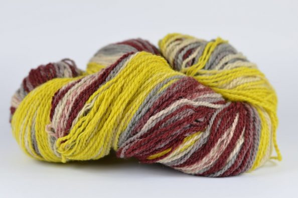 Litwool RAINBOW – ecru, żółty, szary, bordo