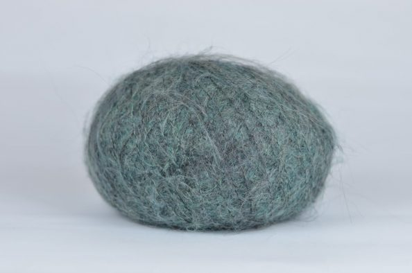Kid Mohair Fine – grey/green shades