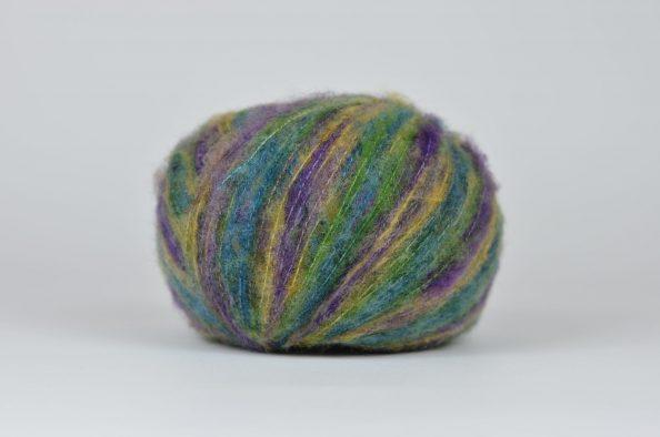 Włóczka Kid Mohair Flamme - purple, turquise, green shades (55584)