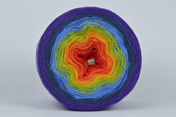 Włóczka Liloppi Swing Rainbow - 3 nitki - CLASSIC (R100)