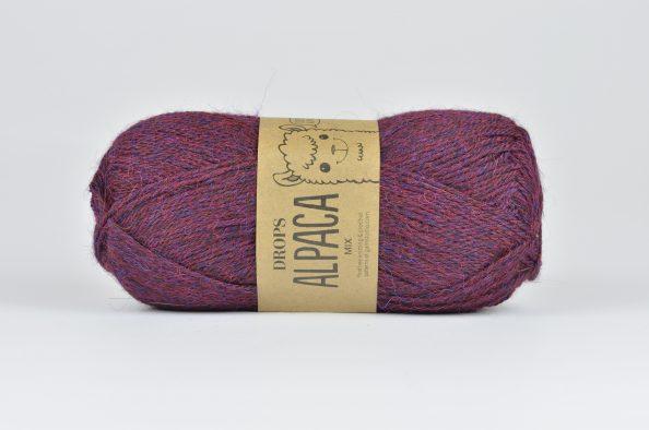 DROPS Alpaca - 3969 czerwony/fioletowy